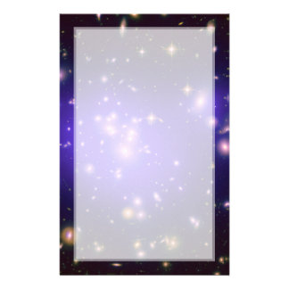 Dark Matter in Galaxy Cluster Abell 1689 (Hubble T Stationery Paper