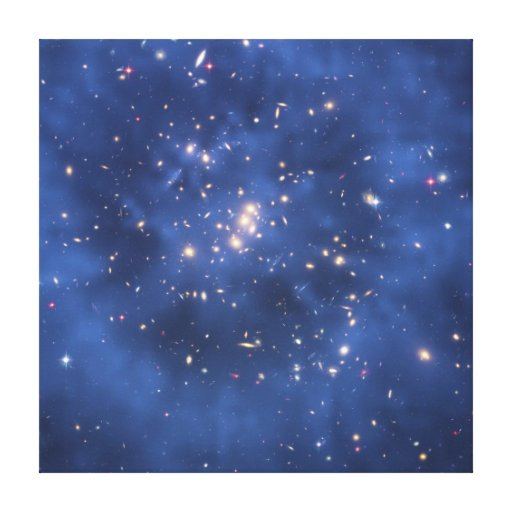 Dark Matter Ring in a Galaxy Cluster Canvas Prints