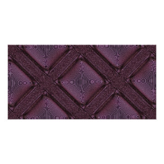 Dark Mauve Abstract Pattern Photo Card