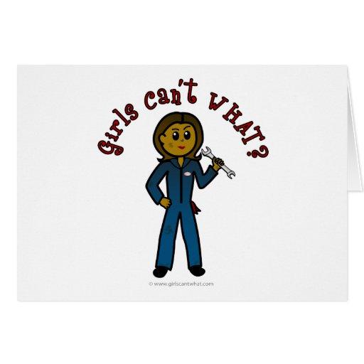 Dark Mechanic Girl Cards
