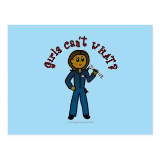 Dark Mechanic Girl Postcard