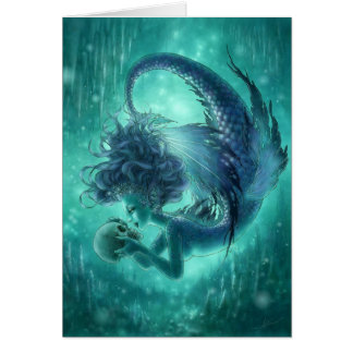 Dark Mermaid Greeting Card - Secret Kisses