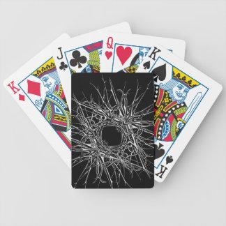 dark metal bicycle playing cards