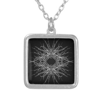 dark metal silver plated necklace