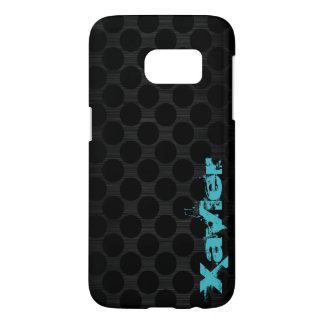 dark metal with dots and name samsung galaxy s7 case