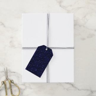 Dark Midnight Indigo Blue Glitter Pack Of Gift Tags