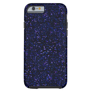 Dark Midnight Indigo Blue Glitter Tough iPhone 6 Case