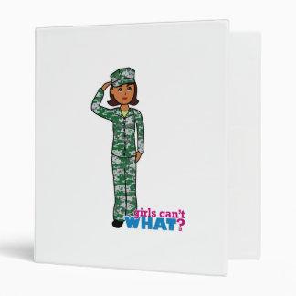 Dark Military Girl in Camo Vinyl Binder