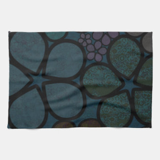 Dark Modern Floral Kitchen Towel