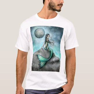 Dark Moon Gothic Mermaid Fantasy Art T-Shirt