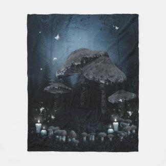 Dark Mushroom Ring Fleece Blanket