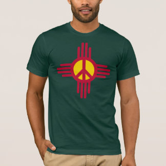 Dark New Mexico Peace Sign T-Shirt