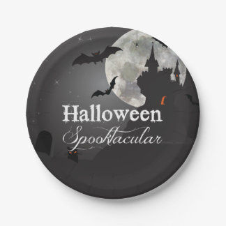 Dark Night Halloween Spooktacular Party 7 Inch Paper Plate