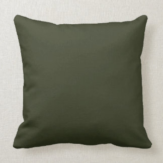 Dark Olive Army Green Modern Color Only 2 Throw Pillow