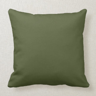 Dark Olive Army Green Modern Color Only 4 Throw Pillow