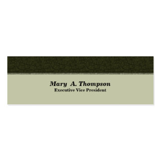Dark Olive Green Texture Pack Of Skinny Business Cards
