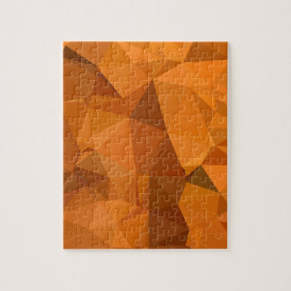 Dark Orange Carrot Abstract Low Polygon Background Jigsaw Puzzle