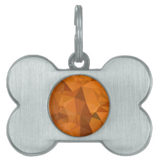 Dark Orange Carrot Abstract Low Polygon Background Pet ID Tag