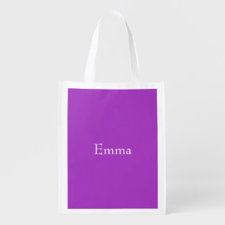 Dark Orchid Personalized Grocery Bag