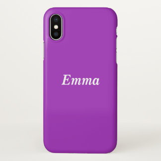 Dark Orchid Personalized iPhone X Case