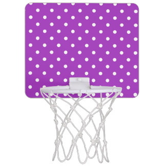 Dark Orchid Polka Dot Mini Basketball Hoop