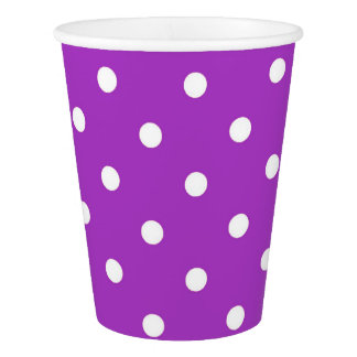Dark Orchid Polka Dot Party Cups Paper Cup