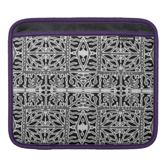 Dark Oriental Ornate Pattern iPad Sleeve