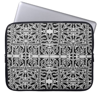Dark Oriental Ornate Pattern Laptop Sleeve