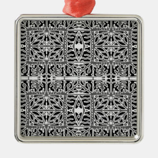 Dark Oriental Ornate Pattern Metal Ornament