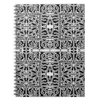Dark Oriental Ornate Pattern Notebook