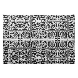 Dark Oriental Ornate Pattern Placemat