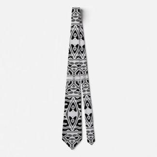 Dark Oriental Ornate Pattern Tie
