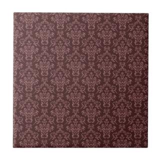 Dark Ornate Burgundy Damask Tile