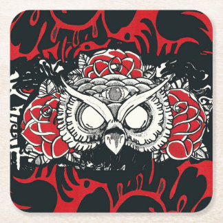 Dark owl coaster