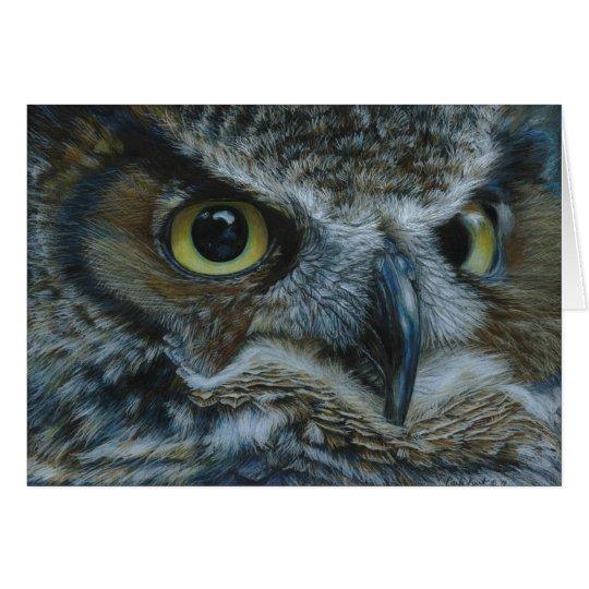 Dark Owl Greeting Card