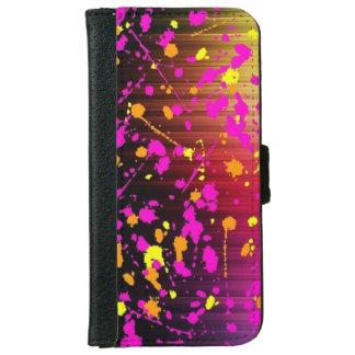 Dark Paint Splash iPhone 6 Wallet Case