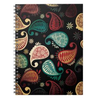 Dark Paisley Notebook