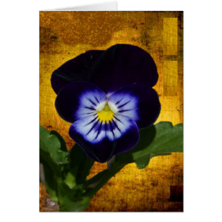 Dark Pansy on Gold 1 Card
