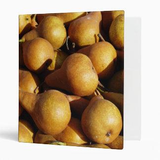 Dark Pears Fresh Fruit Photo 3 Ring Binders