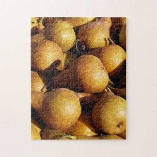 Dark Pears Fresh Fruit Photo Jigsaw Puzzle