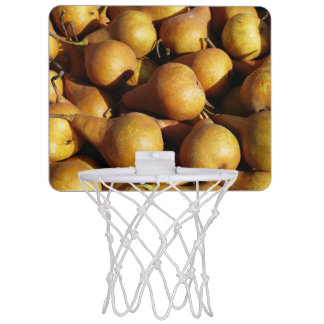 Dark Pears Fresh Fruit Photo Mini Basketball Hoop