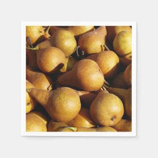 Dark Pears Fresh Fruit Photo Paper Napkin