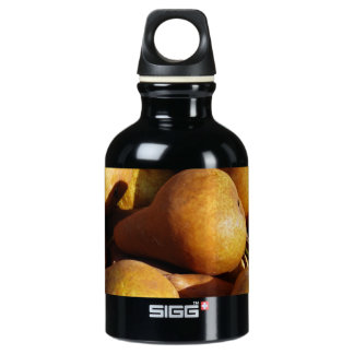 Dark Pears Fresh Fruit Photo Water Bottle
