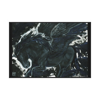 Dark Pegasus Canvas Print