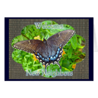 Dark Phase Tiger Swallowtail Welcome Neighbor Greeting Card