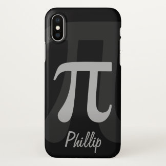 Dark Pi Name Template iPhone X Case