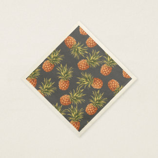 Dark Pineapple Paper Cocktail Napkins Paper Napkin