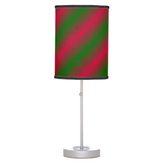 Dark Pink and Green Sideway Lines Table Lamps