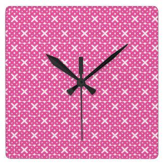 Dark Pink Celtic Love Knots Clocks