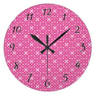 Dark Pink Celtic Love Knots Wall Clocks